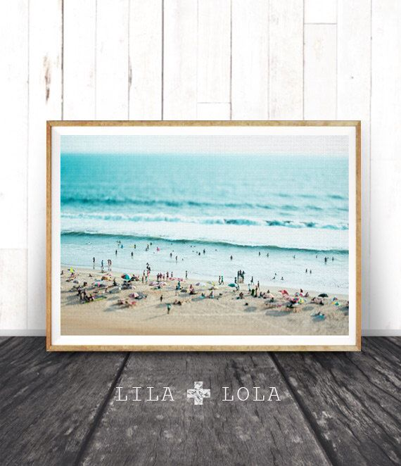 Beach Photo, Decor Print, People, Ocean Water Photography Wall Art, Coastal, Printable Beach Art Instant Download, Modern Coastal Print by lilandlola on Etsy https://www.etsy.com/uk/listing/263402061/beach-photo-decor-print-people-ocean