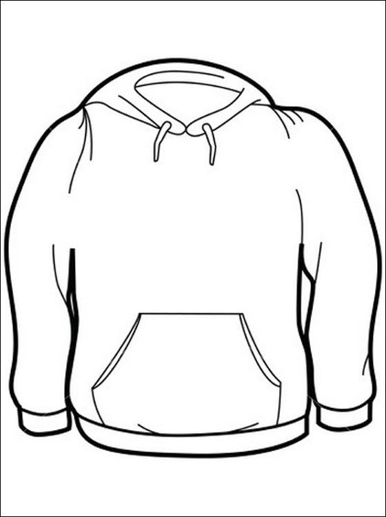 Print kleurplaat Sweater | Gratis kleurplaten