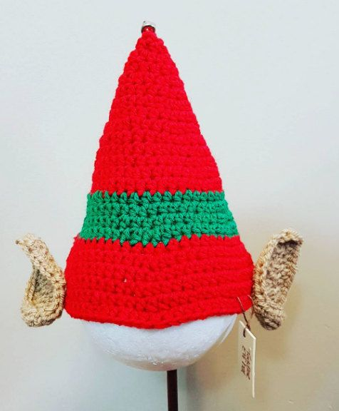 Cute crocheted elf hat pattern by MakeBelieveWhimsical on Etsy