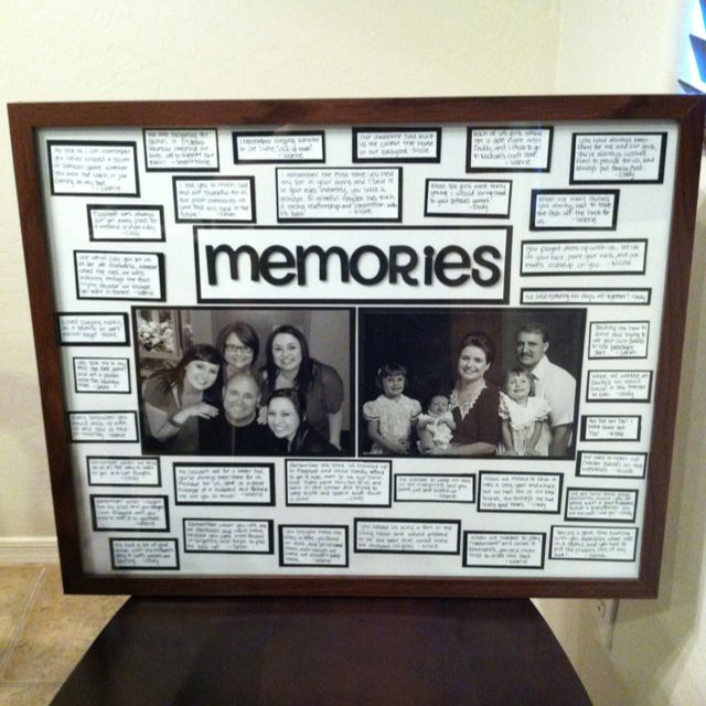 Dads Birthday Gift Each Of Us Wrote Our Best Memories With Him And Did An Old New Picture