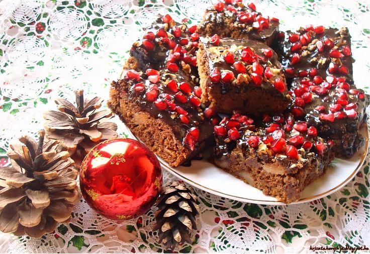 Szintén egy zabliszttel készült sütemény következik.Saját fantáziám szerint készült kevert sütemény sok finomsággal megpakolva,karácsonyi íz...