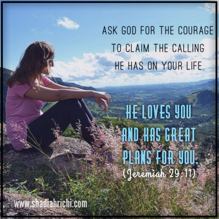 God has a great plan for you!