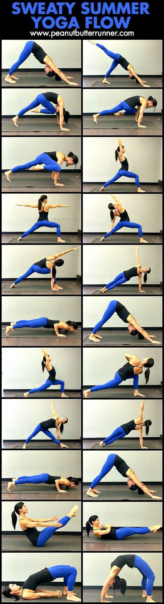 A sweaty summer yoga flow to strengthen and stretch. Down Dog, Right Side Three Point, Cheetah, Three Point, Twisted Cheetah, Three Point,…