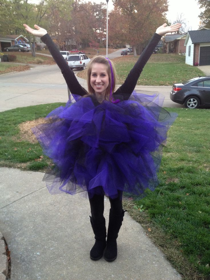 My luffa costume from last year!! Just get colored netting and safety pin it to elastic. I did 2 bands of elastic. So easy and cute!!