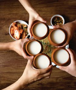 Makgeolli - traditional Korean rice wine - This will knock you on your ass!  One shot!