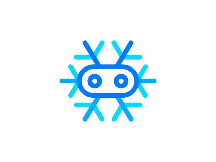 Snowbot Logo ❄️️ + 🤖  (2nd option) by Vadim Carazan