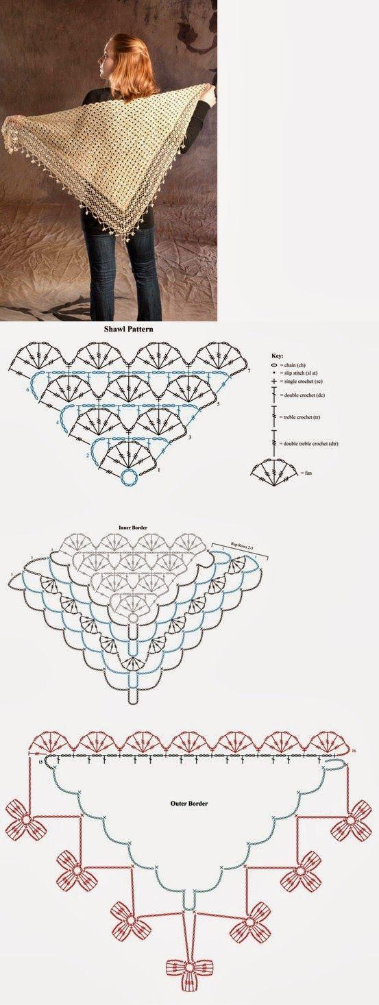 Pelerine De Croche no Pinterest | Crochê, Tricô e Receitas De Croche