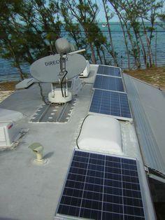 bus conversion (skoolie) or camper roof ideas; adding solar panels
