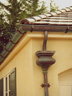 Scupper Box Copper Gutters Rain Barrel French Drain