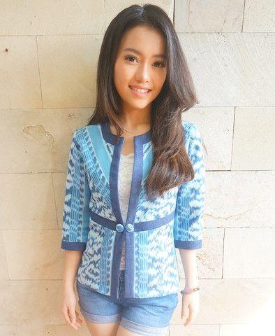 Stripped Tenun Blazer Blue | batik kultur