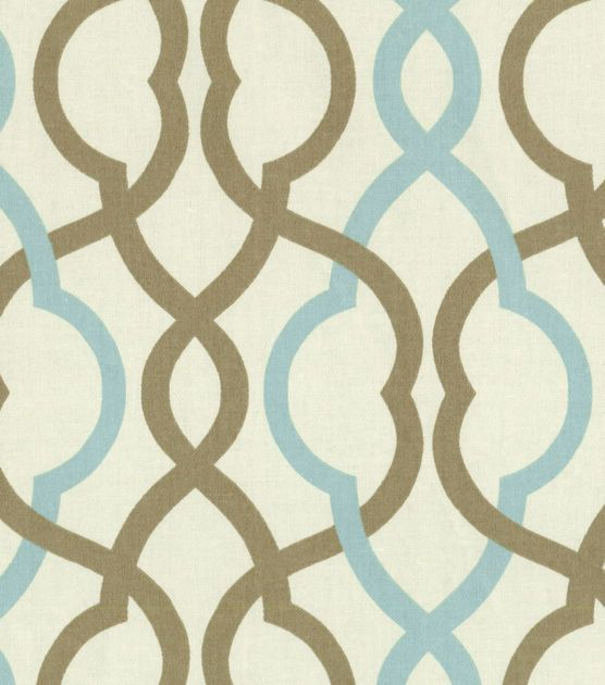 Curtains for brown room downstairs, three windows  Waverly Home Decor Print Fabric Make Waves Latte