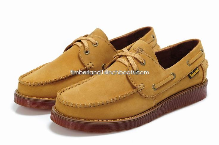 Shipped Free Timberland Men's Classic Yellow 2-Eye Boat Deck Shoes $ 120.00