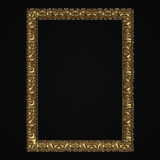Vertical Golden Frame Vertical Golden Frame Png Transparent