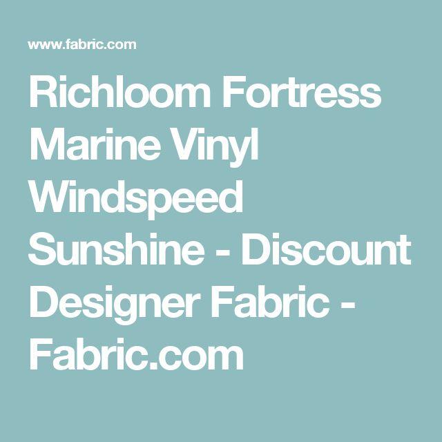 Richloom Fortress Marine Vinyl Windspeed Sunshine - Discount Designer Fabric -  Fabric.com