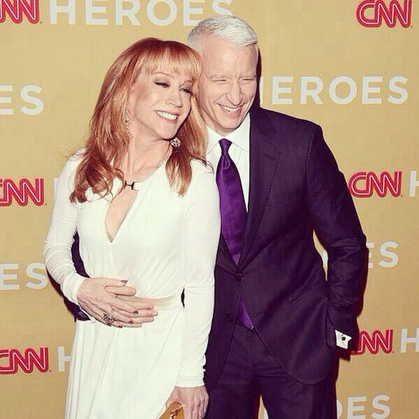 Anderson Cooper with Kathy Griffin