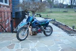2003 Suzuki Drz110. My first dirt bike. Beautiful custom paint job
