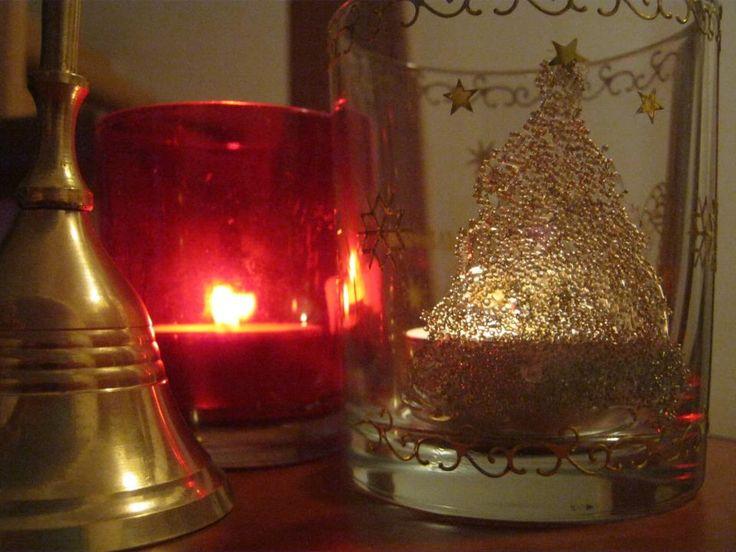 Christmas Tree Candle support- handmade Copyright@ Laura Ciocoiu