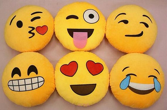 Emoji pillows, love and want!