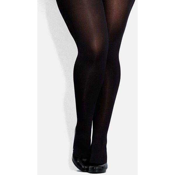 Plus Size Women's City Chic 120 Denier Black Opaque Tights ($12) ❤ liked on Polyvore featuring intimates, hosiery, tights, accessories, plus size, black hosiery, opaque pantyhose, plus size womens tights, opaque stockings e black pantyhose