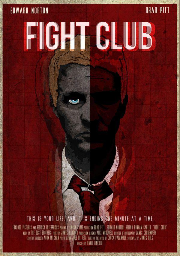Fight Club Posters (2) by Chino de Vera, via Behance ::: #Movie #Poster #Art #Il…
