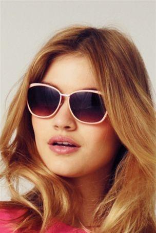 Pink Enamel Cat Eye Sunglasses