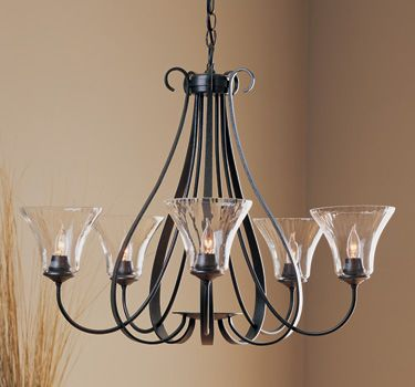 Special Offers Available Click Image Above Sweeping Taper Five Arms Chandelier With Water Gl By Hubbardton Forge