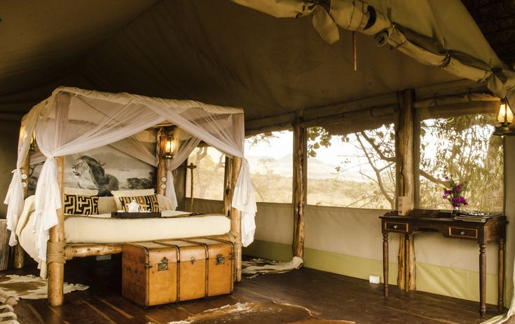 Campi ya Kanzi (Camp of the Hidden Treasure) is an award-winning, boutique eco-lodge in Kenya that sets a new standard for the experience of true luxury that is also truly ecologically low-impact. #travel #romanticgetaway #ecoluxe
