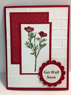 Wild about Flowers, Get Well Card, Stampin' Up!, Rubber Stamping, Handmade Cards