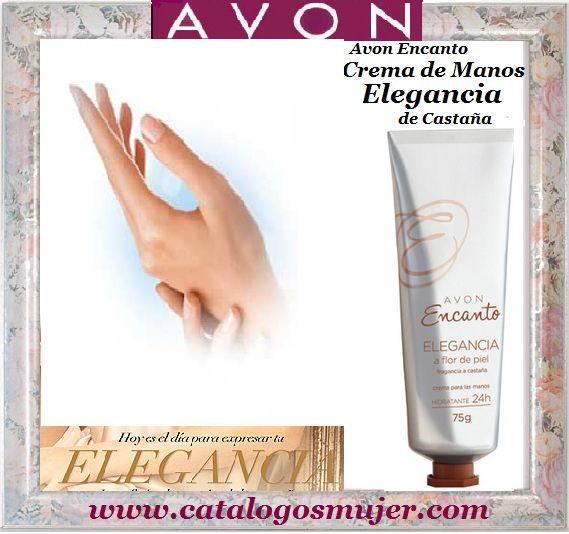 """AVON ENCANTO ELEGANCIA 75g Crema de Manos con Vitamina """"E"""" aroma a Castañas Para ti a solo S/. 7.90"""