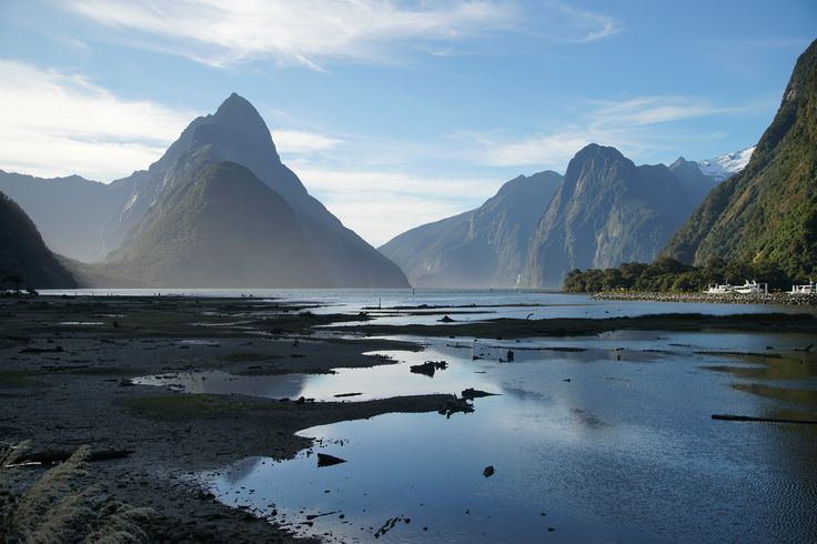 Milford Sound is always beautiful, come rain or shine. And it's usually a guest favourite. Here's Mitre Peak on a still day.   #newzealand #activenewzealand #hikingnewzealand #milfordsound #milford