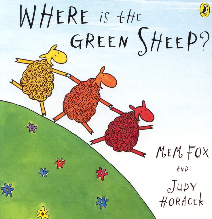 Where is the green sheep?  A family favourite by Mem Fox and Judy Horacek. Hugo dressed up as a green sheep for book week <3