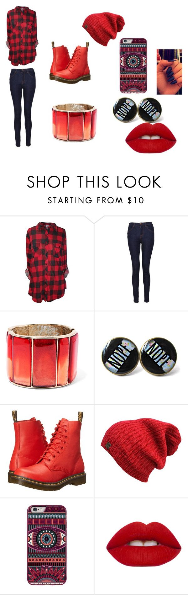Trying new things by whitenoiseiswatching on Polyvore featuring J Brand, Dr. Martens, Oscar de la Renta and Lime Crime