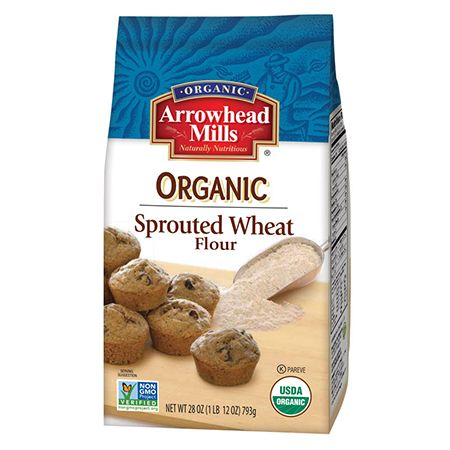 You will love the taste and appreciate the difference of new Arrowhead Mills Organic Sprouted Wheat Flour.  This sprouted-grain based wheat flour is easily digestible, nutritious and a good source of fiber and whole grains.   Create scrumptious tasting cookies, biscotti, cakes, muffins and breads using this delicious tasting wheat flour.