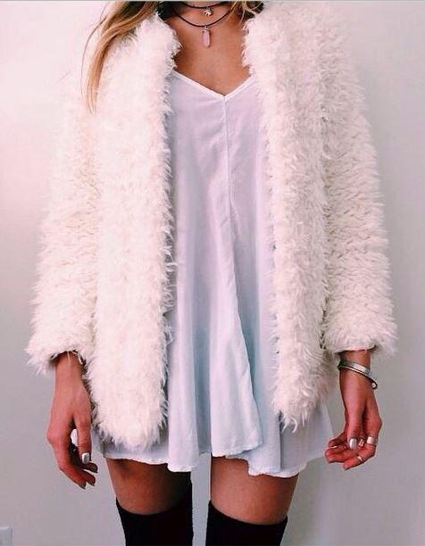 Alama Crop Cocoon Sleeve Curly Fur Jacket at Boohoo