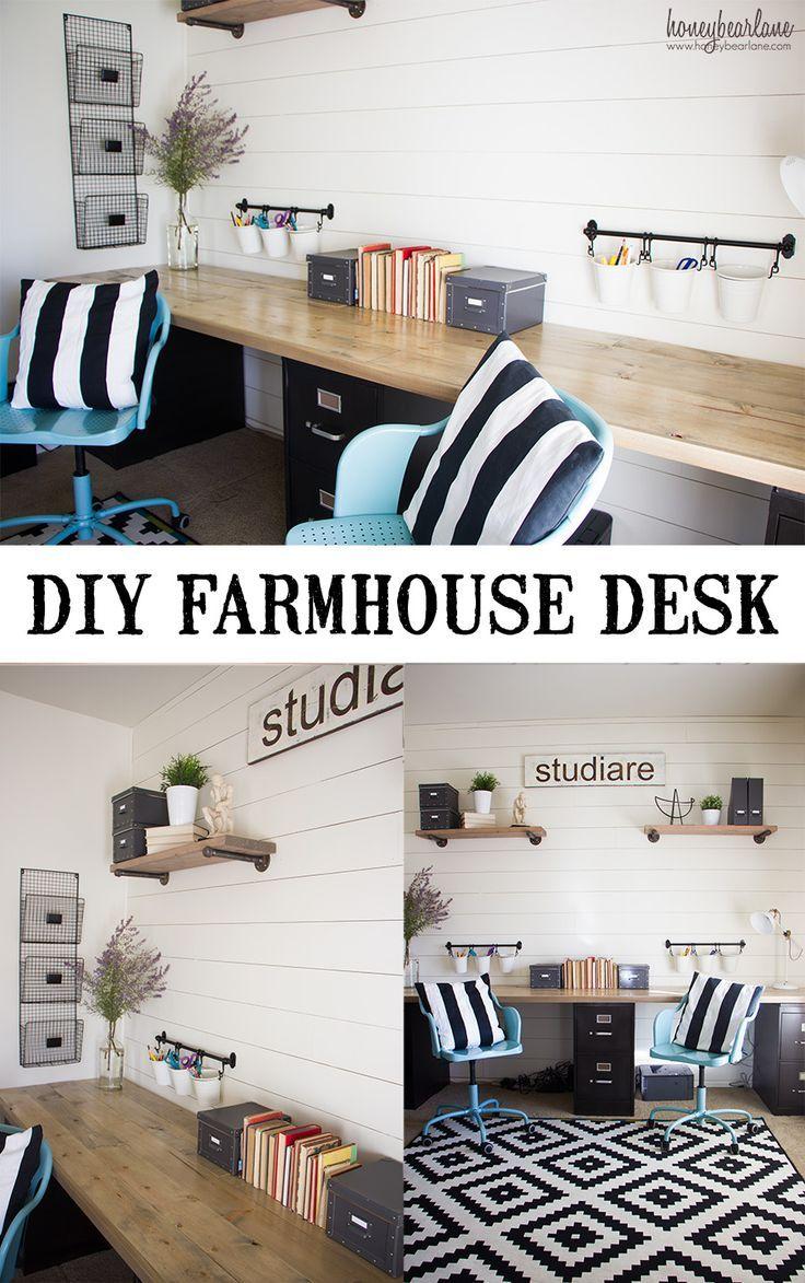 Best 25+ Farmhouse Desk Ideas On Pinterest | Farmhouse Office, Basement  Office And Diy Computer Desk