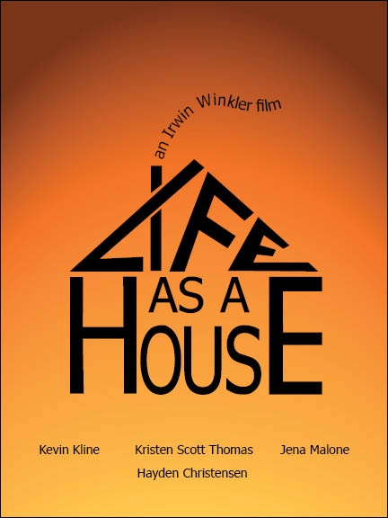 """DVD cover for """"Life as a House"""" using only Typography"""