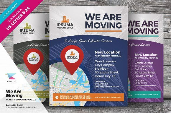 We Are Moving Flyer Vol02 By Kinzi21 On Creativemarket Flyer