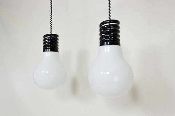 Vintage Lamperti hanglampen Italiaans design seventies design