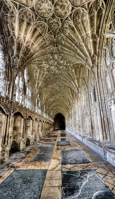 Corridor, Gloucester Cathedral