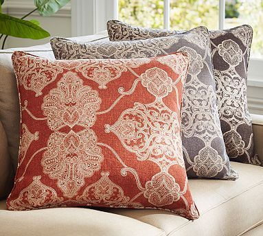 Alana Printed Pillow Cover #potterybarn In gray for master bedroom