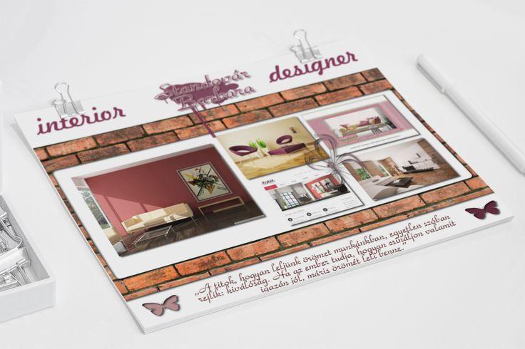 Moodboard (ötlettábla, hangulattábla) tervezés Standovár Barbara Lakberendező részére.