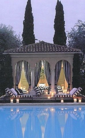 If I ever have a pool, I will try to fit in a beautiful area like this. Tranquil and Relaxing