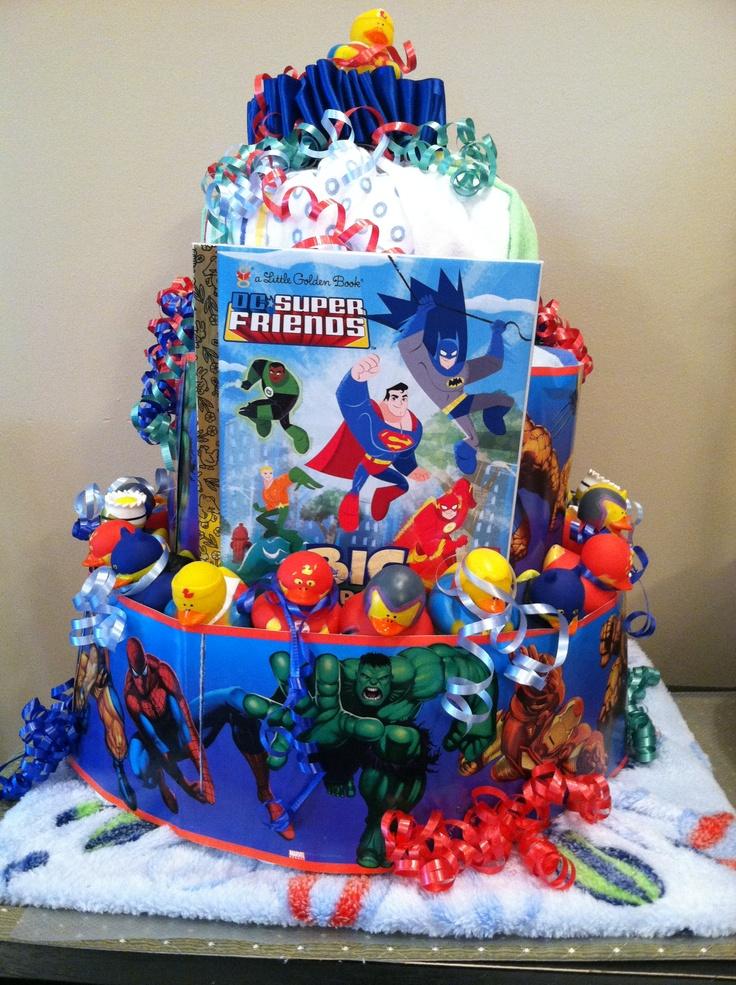 Super Hero Diaper Cake