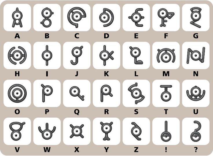 The 25 best Unown alphabet ideas on Pinterest