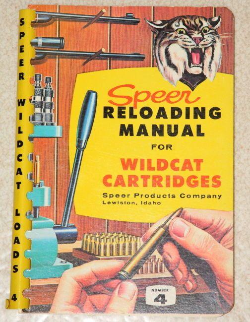 #Speer #Reloading Manual Wildcat Cartridges, #1960 Number 4, Four,