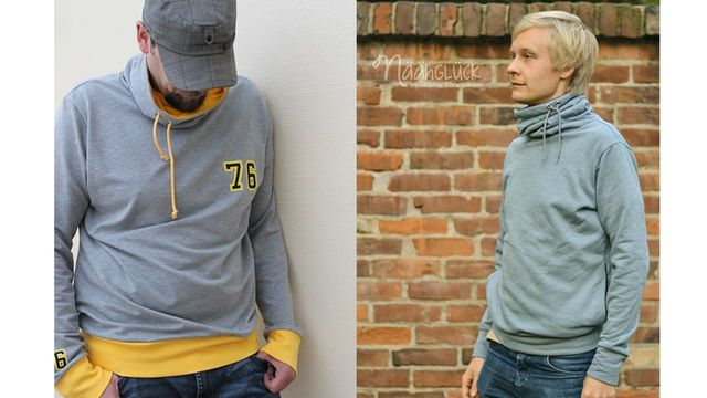 Sweater avec col pour hommes – Patrons et tutoriels de couture chez Makerist