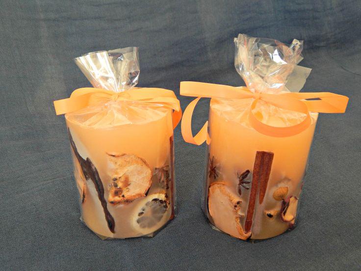 Χειροποίητα αρωματικά στρογγυλά κεριά με άρωμα βανίλιας. http://www.kirofos.gr