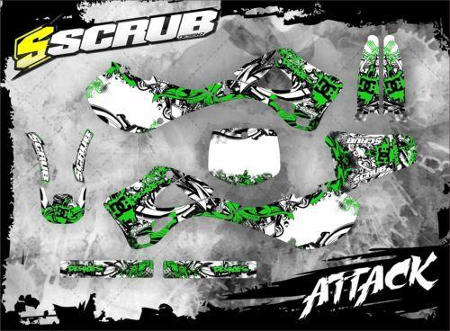 Scrub kawasaki graphics decals stickers kit kx 125 250 1999 2000 2001 2002