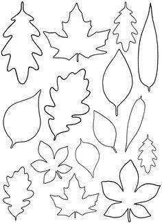plain jane: diy paper leaves + free leaf template