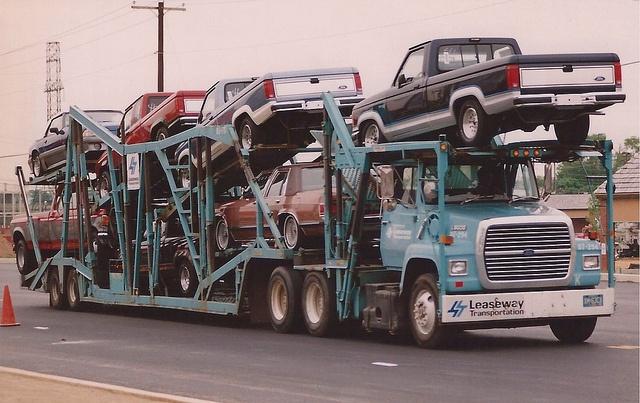 1987 Ford NU Car Carriers by PAcarhauler, via Flickr